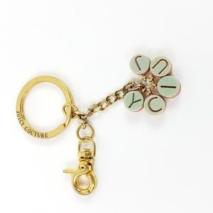 Juicy Couture Keychain Gold Tone JUICY